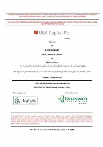 belfry investment and securities limited