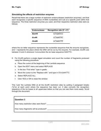 ms foglia ap biology worksheets and answer key. Black Bedroom Furniture Sets. Home Design Ideas