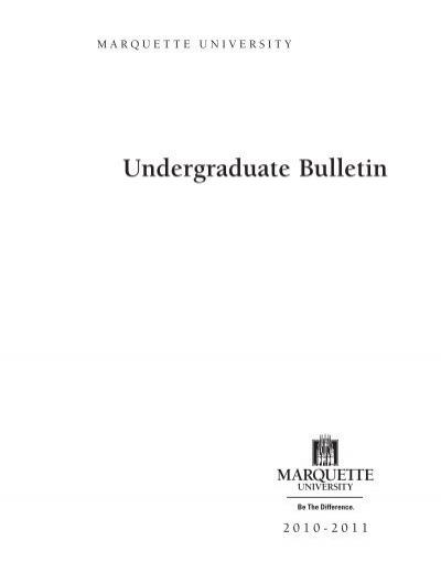 Marquette Academic Calendar 2022.2010 2011 Marquette University Bulletin