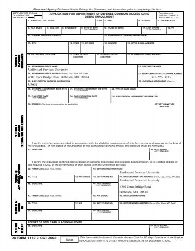 DD Form 1172-2, Application for Department of ... - Osan Air Base
