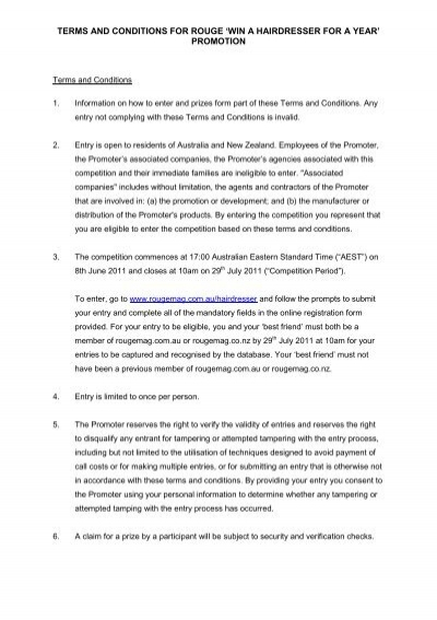 Terms and conditions for rouge win a hairdresser for a year terms and conditions for rouge win a hairdresser for a year promotion pronofoot35fo Images