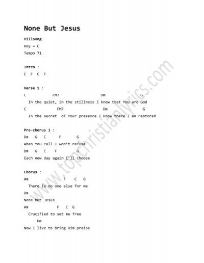 None But Jesus chords – Hillsong - Top Christian Lyrics