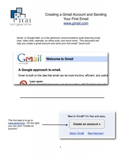 Creating A Gmail Account And Sending Your First