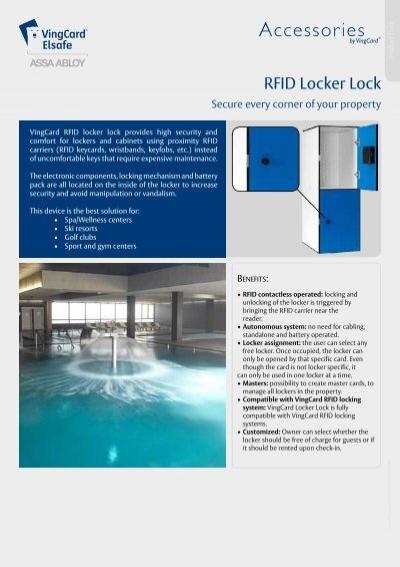 RFID Locker Lock_English pdf - VingCard Elsafe