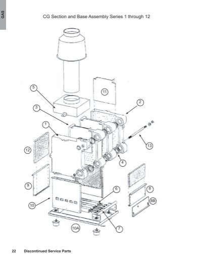 cg section and base assembly series 1 through 12