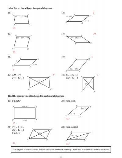 Properties Of Parallelograms Worksheet : stevejobssecretsoflife.org