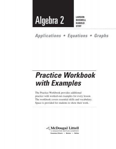 Algebra Ii Workbook Wayne County Public Schools