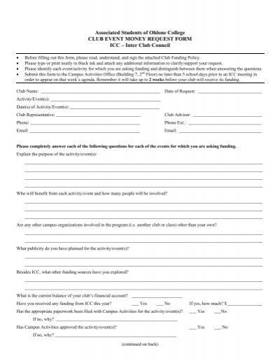 money request form