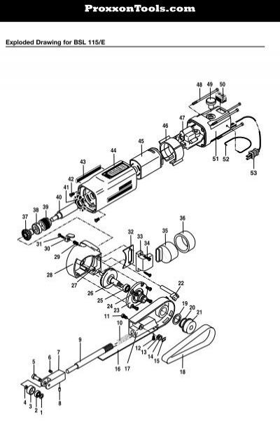 Proxxon BSL 115E Manual