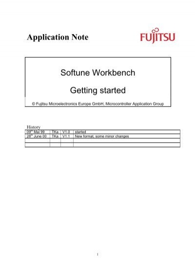 application note softune workbench getting started slot tech forum rh yumpu com