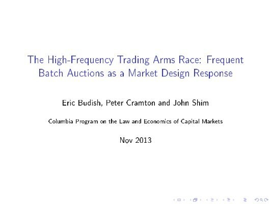 High frequency trading strategies futures