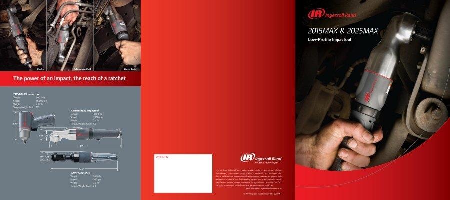 "Ingersoll-Rand 2015MAX 3//8/"" Drive Low Profile Hammerhead Impactool Air Ratchet"