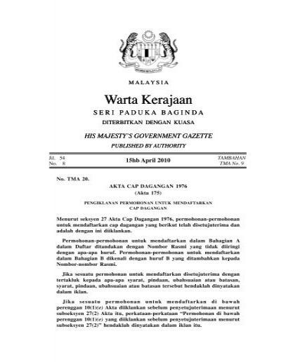 Warta Kerajaan Warta Kerajaan - Intellect Worldwide Sdn Bhd