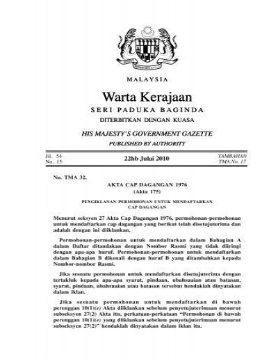 Warta Kerajaan Warta Kerajaan Intellect Worldwide Sdn Bhd