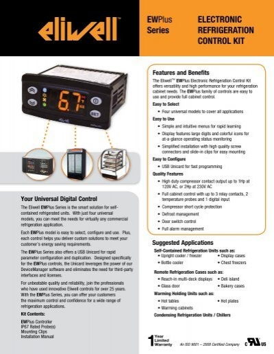 NEW ELIWELL  EWPLUS 974  controller  FOR 230V   be sure you need it for 230V