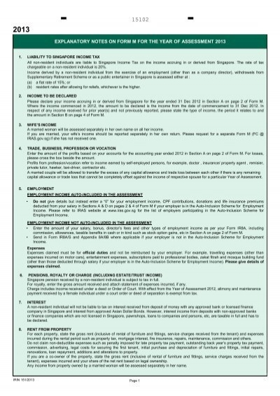 EXPLANATORY NOTES FOR COMPLETION OF FORM IR8A ... - IRAS