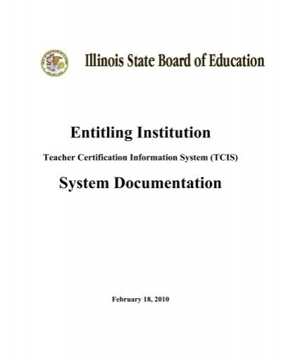 Teacher Certification Information System (TCIS) - Illinois State ...