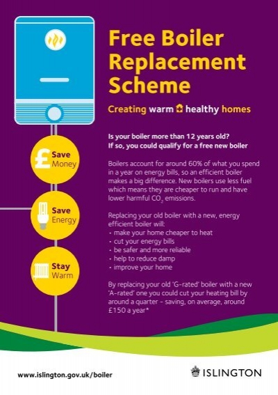 Boiler replacement flyer