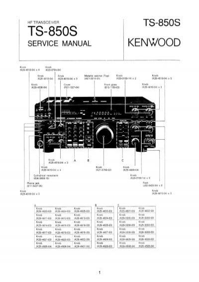 kenwood ts 850s service manual iw2nmx rh yumpu com kenwood ts 850s owners manual kenwood ts 830 service manual