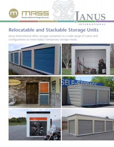 Relocatable and Stackable Storage Units Janus International