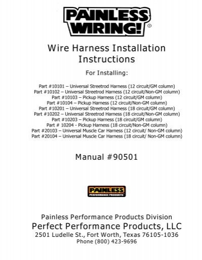 Tremendous Painless Wiring 10102 Instructions Basic Electronics Wiring Diagram Wiring Cloud Oideiuggs Outletorg
