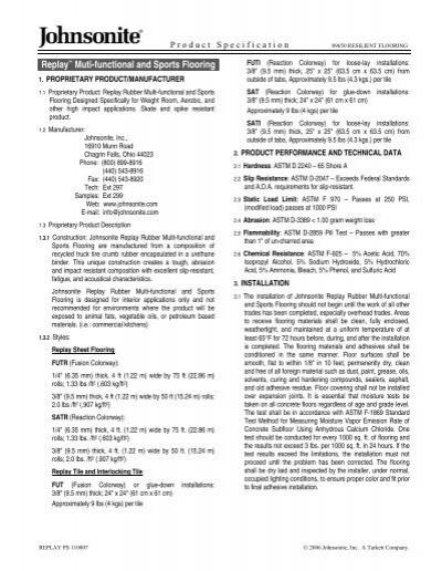 Replay 226 162 Muti Functional And Sports Flooring Johnsonite