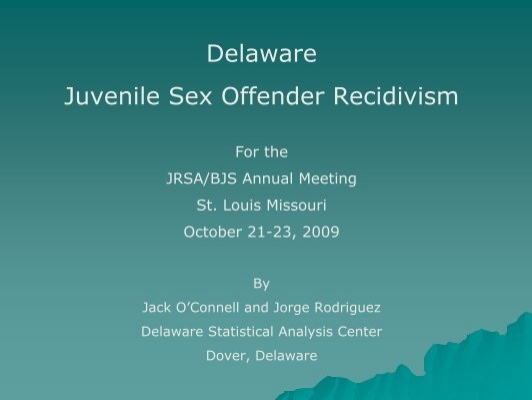 Statistics for juvenile sex offenders