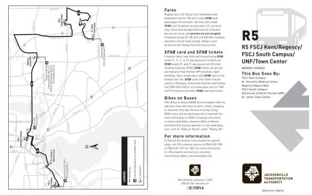 R5 FSCJ Kent/Regency/ FSCJ South Campus/ UNF/Town Center
