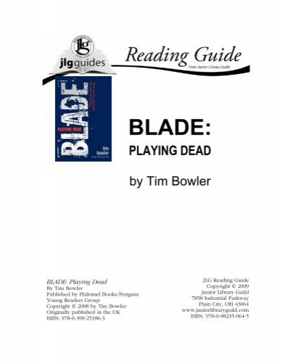 Blade Playing Dead Junior Library Guild