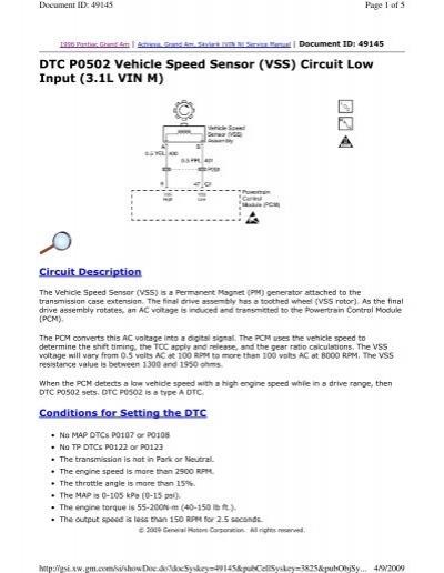 dtc p0502 vehicle speed sensor (vss) circuit low justanswerInput Turbine Speed Sensor Circuit Http Wwwjustanswercom Mercedes #5