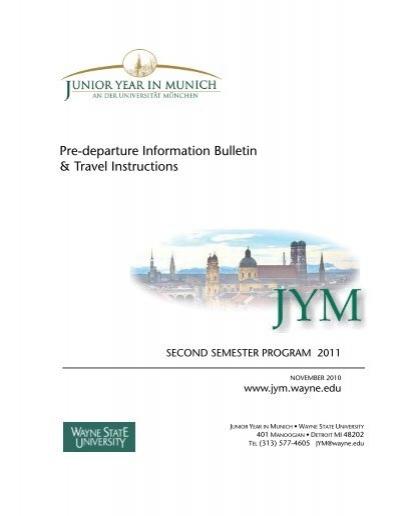 Pre Departure Information Bulletin Travel Instructions