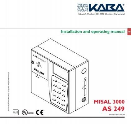 Installation and operating manual - Kaba Mauer GmbH