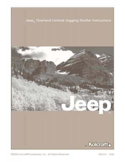 All About Kolcraft Jeep Cherokee Sport Series Instruction Sheet