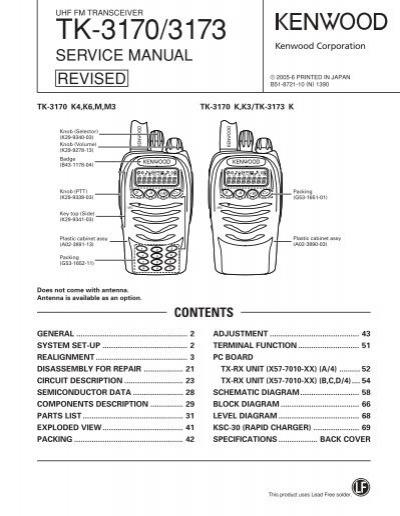kenwood tk 3170 3173 ko4bb s home page rh yumpu com tk7180 service manuals kenwood tk-7180 service manual