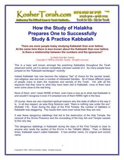 Talmudic Studies & Kabbalah - Kosher Torah
