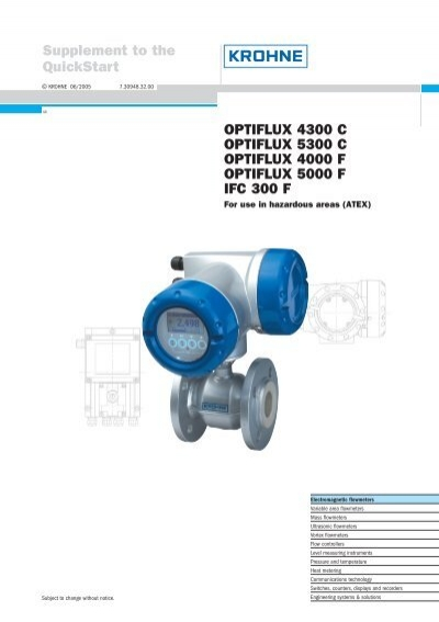 krohne optimass 1300 c manual