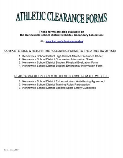 Kennewick School District Calendar.Clearance Packet Kennewick School District