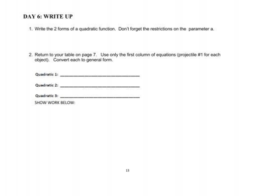 define project write up pdf