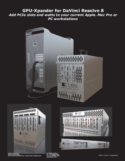 GPU-Xpander for DaVinci Resolve 8 - Cubix