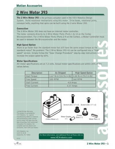 2 Wire Motor 393 - VEX Robotics