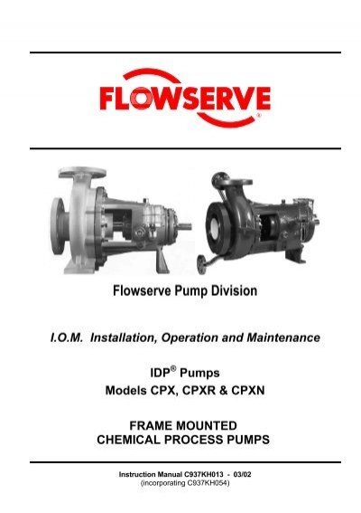 flowserve cpx cpxr cpxn manual consolidated pumps rh yumpu com flowserve lnn pump manual flowserve centrifugal pump manual