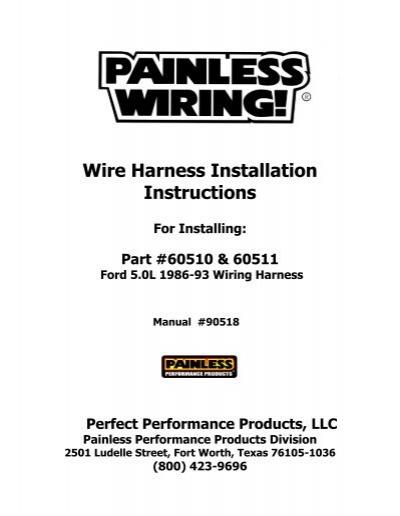 wire harness installation instructions - painless wiring  yumpu