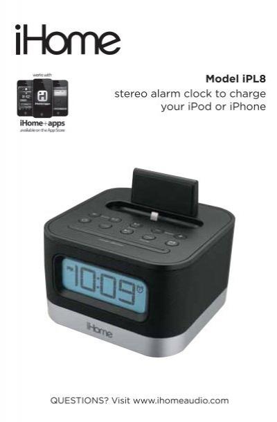 ipl8 user manual ihome rh yumpu com ihome user manual id38 ihome instruction manual clock radio