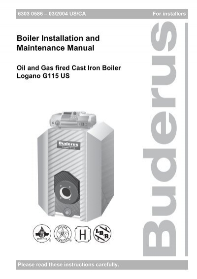 Boiler Installation and Maintenance Manual - Heating Help