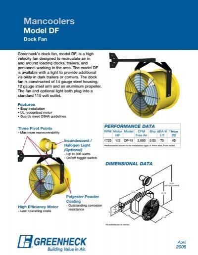 Greenheck Fans Propeller : Dock fan model df greenheck