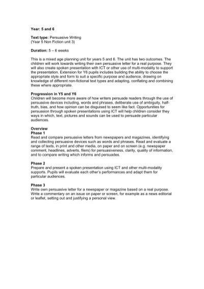 Year 5 and 6 text type persuasive writing dorsetforyou expocarfo Choice Image