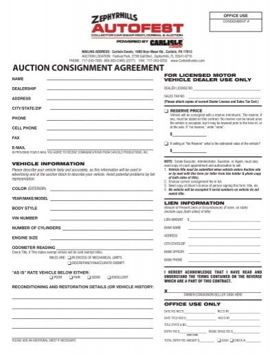 Consignment Agreement Format  Sales Negotiation Training