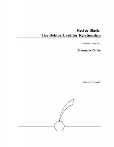 Red black the debtorcreditor relationship pearson fandeluxe Images