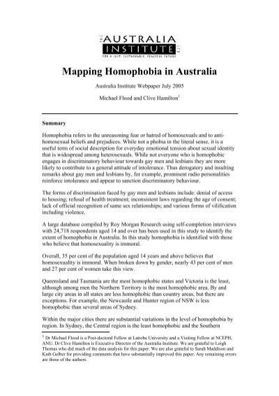 Homophobia Gay And Lesbian