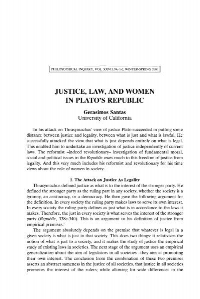 a review of justice in plato